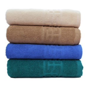 Set 4 Prosoape Calitate Superioara, 100% Bumbac, Textura Densa, Crem/Bej/Albastru/Verde, PIMB508